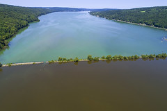Dividing Lines (Matt Champlin) Tags: otiscolake otisco life nature environment runoff water pollution drone drones aerial landscape dji beautiful 2019