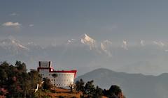 Looking at Himalayas (draskd) Tags: chaukori kmvntrh landscape panchachuli morning sunny morninglight mountain observationtower hill sky draskd nikon d5000 trh 1685mmvr
