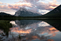 Fire (Aymeric Gouin) Tags: canada banff lake lac reflection reflet sunset park alberta landscape paysage landschaft paisaje sky ciel longexposure fujifilm fuji xt2 aymgo aymericgouin voyage travel