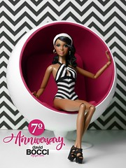 My 7th anniversary (davidbocci.es/refugiorosa) Tags: barbie mattel fashion doll muñeca refugio rosa david bocci ooak alma 7 7º anniversary pink black white stripes