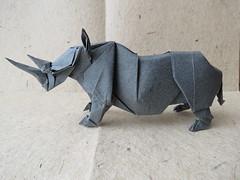 Rhinoceros (Kamiya Satoshi) (maredo77) Tags: origami rhinoceros satoshi