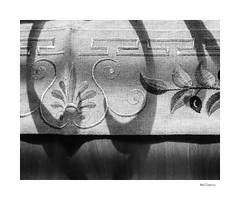 Hellenic (agianelo) Tags: table runner fabric wood grain shadow greek design monochrome bw bn blackandwhite