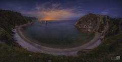 Playa del Silencio Panoramica (JoseQ.) Tags: playa cudillero mar cielo atardecer nubes olas asturias roca silencio agua oceano azul puestadesol acantilado