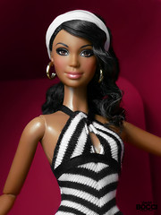My 7th anniversary (davidbocci.es/refugiorosa) Tags: barbie mattel fashion doll muñeca refugio rosa david bocci ooak alma 7 7º anniversary pink black white stripes