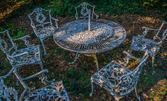 The party's over.... (atone13) Tags: nikkor24mmf28af nikond800 fullframe englishcountrygarden gardenfurniture nohdr