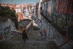 Walking to Sao Bento (dogslobber) Tags: green portugal porto travel adventure explore wander europe street art graffiti girl urban city