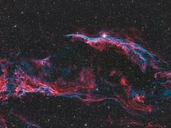 The Veil Nebula (Bjoern Schmitt) Tags: astro astrophotography nebula nebulae nebulawesternveilnebula telescope zwo longexposure astrophoto cosmos universe milky way supernova gas space