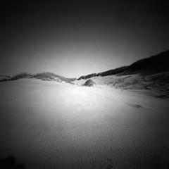 Walking on the moon (Rosenthal Photography) Tags: 6x6 analog urlaub pinhole dänemark asa50 lochkamera ilfordpanfplus mittelformat ilfordrapidfixer ff120 epsonv800 realitysosubtle6x6 ilfordlc2912922°c55min 20190801 sea summer vacation blackandwhite seascape beach landscape holidays dune july northsea danmark rss 205mm f137 realitysosubtle 14 scan epson rapid ilford 129 v800 panf fixer lc29 panfplus pnf