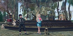 Carousels and Cotton Candy 🎠 (Kaelin's SL Adventures) Tags: secondlifephotography secondlifechildhood slkids secondlife carousel carouselhorse jian pug cottoncandy lelutkawoollymammoth halfdeer atomic {anc} childavatar thehorror