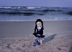 One little Addams by the Sea (pianocats16) Tags: wednesday addams doll custom ooak living dead dolls seaside beach ocean