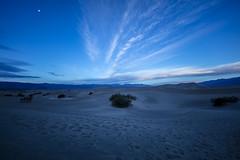 Blue Hour Dunes (CraDorPhoto) Tags: canon5dsr landscape dunes sand footprints clouds sky blue bluehour nature outdoors outside deathvalley usa california