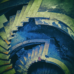 Time is a flat circle (philippe baumgart) Tags: sélestat alsace decay elsass industrial urban urbex stairway architecture