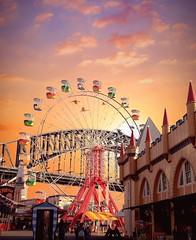 Brooklyn New York City - New York - Luna Park - Coney Island  - Archives (Onasill ~ Bill Badzo) Tags: brooklyn newyorkcity coneyisland lunapark amusement 2010 onasill unitedstates america ferriswheel sunset sunrise