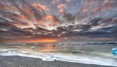 The Floating Diamonds (Rui Baptista Photography) Tags: diamond beach diamondbeach jokusarlon glacier iceberg iceland seascape landscape sunrise goldenhour vatnajokull glacierlagoon