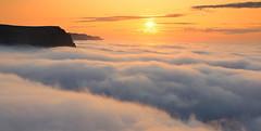 Sea of clouds (hó) Tags: arnarfjörður hvestunúpur ketildalir sun sunset clouds fog inversion fjord iceland august 2019 weather meteorology mountains sky vista landscape cloudscape orange platinumheartaward