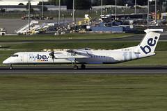 flybe Dash 8 Q400 G-JECR at Birmingham Airport BHX/EGBB (dan89876) Tags: flybe de havilland canada dash 8 q400 dh8d gjecr birmingham international airport landing runway 33 bhx egbb