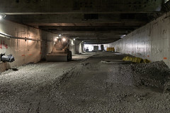 WSDOT Photo: Inside the Battery Street Tunnel (Seattle Department of Transportation) Tags: seattle sdot transportation wsdot viaduct alaskanway demolition demo sr99 alaskan way replacement program berthadigssr99 battery street tunnel fill crushed concrete creepy