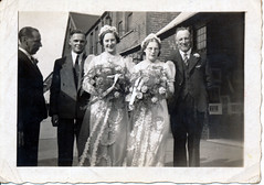 IMG_0099 Geoff Spafford RIP old B&W Family Photos. Audrey Carter wedding with her brother Geoff Spafford and her Dad Ernest Spafford (photographer695) Tags: geoff spafford rip old bw family photos audrey carter wedding with her brother dad ernest