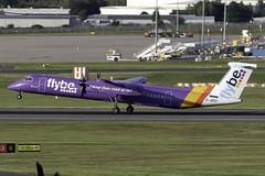 flybe Dash 8 Q400 G-JEDT at Birmingham Airport BHX/EGBB (dan89876) Tags: flybe de havilland canada dash 8 q400 dh8d gjedt birmingham international airport takeoff runway 33 bhx egbb
