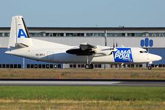 Amapola Flyg Fokker 50 SE-MFJ (widebodies) Tags: stockholm arlanda arn essa widebody widebodies plane aircraft flughafen airport flugzeug flugzeugbilder amapola flyg fokker 50 semfj