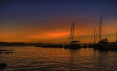 IMG_0047 Sunset in Paradise (foxxyg2) Tags: sun sunset red blue sky sea aegean bluehour yachts naxos cyclades greece greekislands islandhopping islandlife