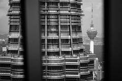 Petronas Towers | Kuala Lumpur Malaysia (Paul Tocatlian | Happy Planet) Tags: malaysia kualalumpur city cityscape blackwhite blackwhitephotography happyplanet asiafavorites
