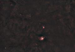 Rokinon 135mm F/2 Test (AstroBackyard) Tags: rokinon 135mm f2 ed umc lens astrophotography lagoon nebula sagittarius space astronomy night sky deep stars cluster trifid m21 canon prime telephoto