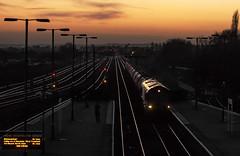 Barnetby Semaphore Sunset (Kingmoor Klickr) Tags: gordonedgar wrawbyjunction barnetby class66 sunset semaphore signal railfreight 66083