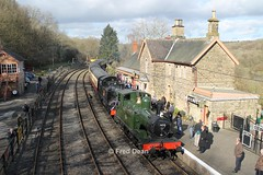 GWR 1450 in Highley. (Fred Dean Jnr) Tags: severnvalleyrailway greatwesternrailway 1400 class 042t steamlocomotive 1450 highleystationshropshire march2014 highley shropshire locomotive