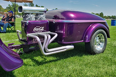 1934 Chevrolet matching Coke trailer (skyhawkpc) Tags: 2019 arvada colorado co nikon allrightsreserved garyverver copyright gverver chevy chevrolet 2doorsedan cocacola trailer coke carshow