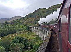 Glenfinnan Viaduct with the Jacobite steam train (aka Hogwarts Express). Scotland. (elsa11) Tags: glenfinnanviaduct thejacobite thejacobitesteamtrain hogwartsexpress fortwilliam mallaig scottishhighlands highlands mountains uk unitedkingdom scotland harrypotter glenfinnan