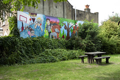 Ruskin Park (London Less Travelled) Tags: uk unitedkingdom britain england london southlondon city urban suburb suburbs suburban suburbia southwark lambeth park ruskinpark mural art
