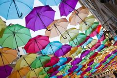 Village Royal, Cité Berryer (like / want / need) Tags: paris february winter winterinparis fuji lightroom fujix100s umbrellas parapluie art installation 1ere