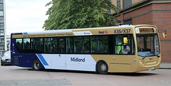 First Midland Bluebird 67782 SN62AYJ working on Falkirk - Glasgow services. (Gobbiner) Tags: firstmidlandbluebird 67782 adl sn62ayj enviro e300 glasgow