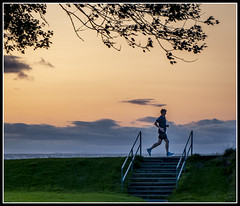 219/365 Evening run at sunset in Ayr (B Ryder) Tags: sony a5300 1650mm lens sunset ayr south ayrshire scotland runner