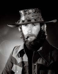 JobLot_00000010007.jpg (The Digital Shoebox) Tags: foundfilm hat portrait epson700 costume scan man cigar smoking ebay negatives 4x5 film beard