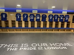 Stamford Bridge home changing room (Erik Hartberg) Tags: chelseafc chelsea football stadium changingroom stamfordbridge
