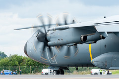 A400M Clears the Active (Jez B) Tags: riat 2019 royal international air tattoo aircraft airplane plane aeroplane military flight flying fly show display raf fairford force airbus a400m atlas transport runway