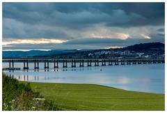 Tay road bridge (jamesdewar99) Tags: tay bridge rivertay sky field colour light land landscape canon summer sunset clouds weather scotland explored inexplore