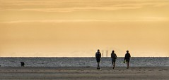 Setting sun silhouettes.. (Mike-Lee) Tags: beach stannes lancashire westcoast silhouettes sunset july2019 blackpool fleetwood