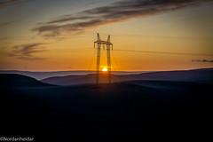 Sunpower (nordanheidar) Tags: iceland sunset sun night powerline landscape landscapephotography