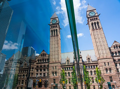 Old City Hall, Toronto (Trey Ratcliff) Tags: canada toronto treyratcliff stuckincustoms stuckincustomscom architecture victorian reflection city tower ontario clock