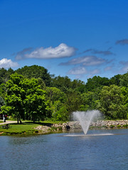 Fountain at Indian Lake (George Neat) Tags: north huntingdon twp township westmoreland county pa pennsylvania patriotportraits georgeneat neatroadtrips landscape scenic scenery laurelhighlands outside lake pond water indian park nht