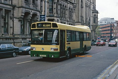 South Manchester, Hyde 143 (THX 143S) (SelmerOrSelnec) Tags: southmanchester leylandnational thx143s manchester princessstreet londontransport bus