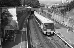 Woolwich Dockyard (DH73.) Tags: woolwich dockyard station railway networker 465 southeastern 465912 dartford loop north kent england suburban electric emu train minolta dynax 600si classic 3570mm f4 zoom ilford delta 400 id11