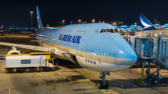 HL7630 - Korean Air - Boeing 747-8B5 (bcavpics) Tags: china plane airplane hongkong aviation sar koreanair hl7630 night gate aircraft jet boeing hkg 747 airliner jumbo cheklapkok 748 vhhh bcpics