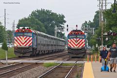 Another... (tim_1522) Tags: railroad railfanning rail illinois il bnsf burlingtonnorthernsantafe bn racetrack metra commuter f40phm2 f40ph3 chicago sub subdivision passenger