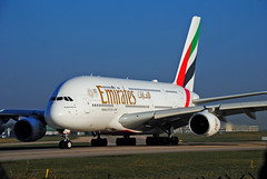 Emirates A380 (Infinity & Beyond Photography: Kev Cook) Tags: emirates airlines airways airbus a380 aircraft airplane airliner ringway airport manchester man planespotting photos planes