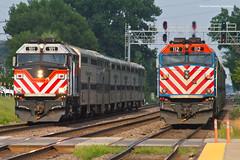 And Another... (tim_1522) Tags: railroad railfanning rail illinois il bnsf burlingtonnorthernsantafe bn racetrack metra commuter f40phm2 f40ph3 chicago sub subdivision passenger