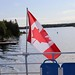 Canadian Flag on Blue Heron Cruises